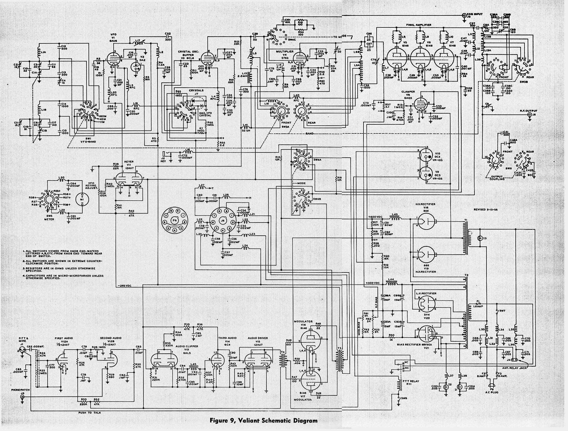 Troubleshooting Or Just Shooting A Johnson Valiant Wire Harness Http Freeradiocafecom Images Schematic